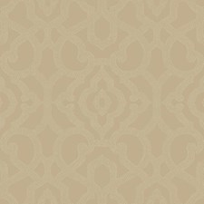 Medium Taupe/Cream Damask Wallcovering by York