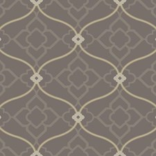 Dark Grey/Medium Grey/Tan Bohemian Wallcovering by York