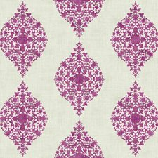 White/Magenta Damask Wallcovering by York