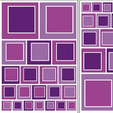 DM74104 Purple Squares Wall Decals by Brewster