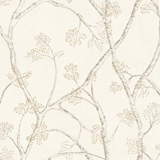 Off White/Metallic Gold/Taupe Weaves Wallcovering by York