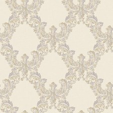 Cream/Gold/Light and Medium Grey Traditional Wallcovering by York