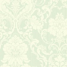 Pale Blue/Cream Damask Wallcovering by York