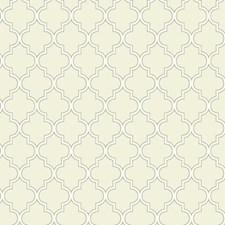 Almond/Hint Of Grey/Sterling Silver Trellis Wallcovering by York