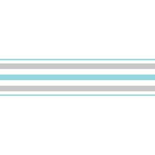 FDB50026 Multicolor Stripe Peel & Stick Border by Brewster