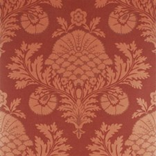Copper/Red Damask Wallcovering by Mulberry Home