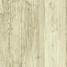 Beige/Taupe Boards Wallcovering by York
