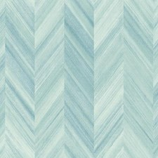 Variations Of Blue Chevron Wallcovering by York