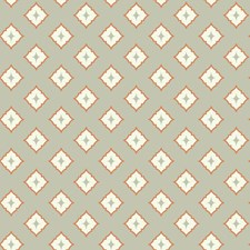 Light Grey/Cream/Orange Geometrics Wallcovering by York