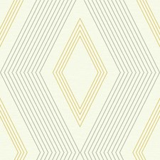 Cream/Medium Grey/Medium Yellow Geometrics Wallcovering by York