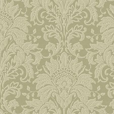 Spa Green/Bronze/Cool Cream Damask Wallcovering by York