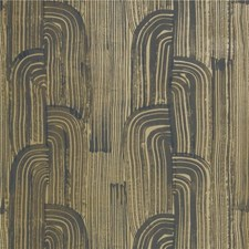 Ebony/Gold Modern Wallcovering by Groundworks