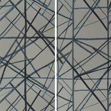 Slate/Blue Modern Wallcovering by Groundworks