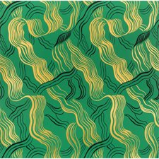 Green/Gold/Blk Contemporary Wallcovering by Groundworks