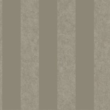 Shimmering Platinum Pearl Metallic/Deep Taupe Stripes Wallcovering by York