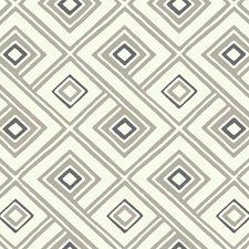 Cream/Taupe/Black Geometrics Wallcovering by York