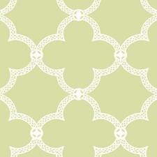 Yellow/Green/White Trellis Wallcovering by York
