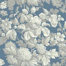 Wedgwood Blue/Gray/White Hydrangea Wallcovering by York