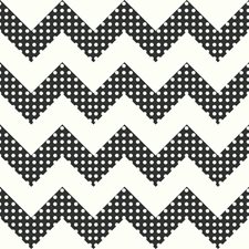 Black/White Chevron Wallcovering by York