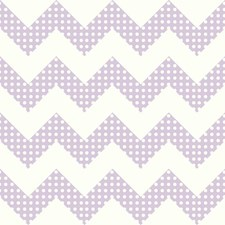 Snow/Lavender Dots Wallcovering by York