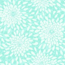 Robin's Egg/Aquamarine/Icy Silver Floral Wallcovering by York