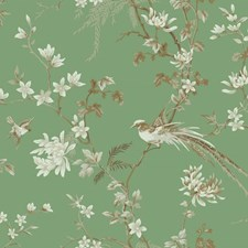 KT2175 Bird And Blossom Chinoserie by York