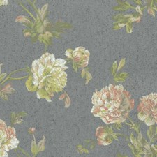 Blues/Greens Floral Medium Wallcovering by York
