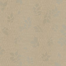 Deep Brown Beige/Glint Silver/Gold Metallic Pearl Branches Wallcovering by York
