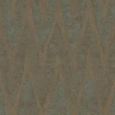Taupe/Aqua/Metallic Bronze Chevron Wallcovering by York