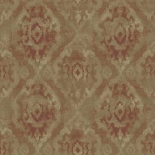 Beige/Red/Orange Damask Wallcovering by York