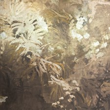 Bronze/Gold/Metallic Botanical Wallcovering by Kravet Wallpaper