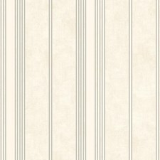 White/Silver Stripes Wallcovering by York