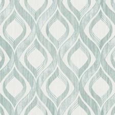 Aquamarine Blend/Cream Geometrics Wallcovering by York