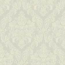 Palest Blue/White Damask Wallcovering by York