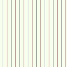Eggshell/Bright Red/Navy Blue Stripes Wallcovering by York