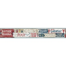 Red/White/Blue Words Wallcovering by York
