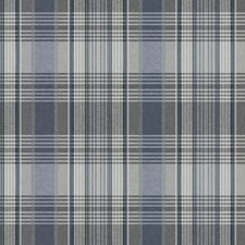 Faded Denim Blue/Chambray Blue/Medium Grey Plaids Wallcovering by York