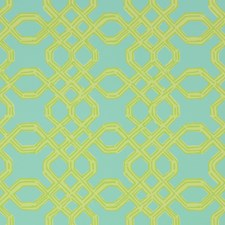 Green/Aqua Print Wallcovering by Lee Jofa Wallpaper