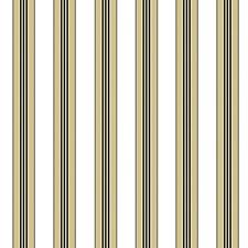 Beige Stripes Wallcovering by Brunschwig & Fils