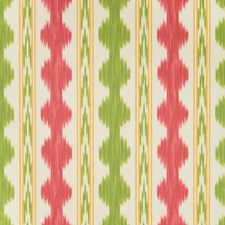 Red/Green Print Wallcovering by Brunschwig & Fils