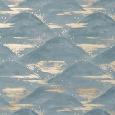 Blue Modern Wallcovering by Brunschwig & Fils