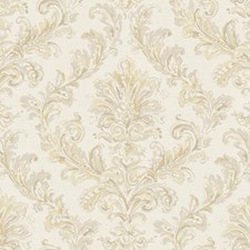 Beige/Buff/Straw Acanthus Wallcovering by York