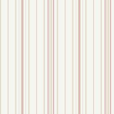 Cream/Rosy Pink/Pale Pink Stripes Wallcovering by York