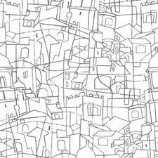 PSW1047RL Cubist Cityscape by York