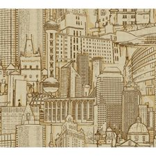 Brown/Gold Urban Wallcovering by York