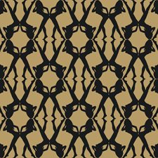 Metallic Gold/Black Novelty Wallcovering by York