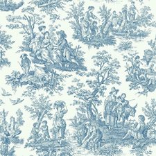 blue/white Wallcovering by York