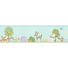 RMK4407BD Woodland Animal Peel and Stick Border by York