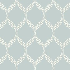Pale Blue/Off White Geometrics Wallcovering by York