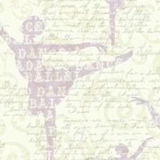 White/Light Purple/Pearl Children Wallcovering by York